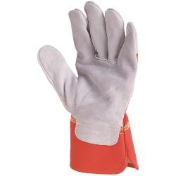Rękawice bawełniane wzmacniane dwoiną bydlęcą