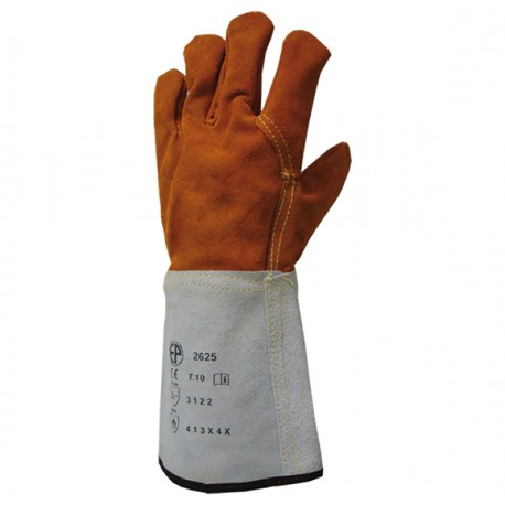 Rękawice spawalnicze ze skóry dwoinowej, wypodszewkowane
