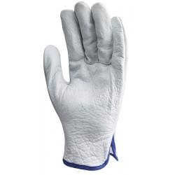 Rękawice całoskórzane dwoina/lico bydlęce