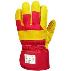Rękawice bawełniane wzmacniane dwoiną bydlęcą ocieplane
